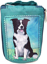Border Collie Foldable Tote Bag - Waterproof - Zipper Market Tote