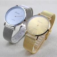 heiß Damen Modeuhr Edelstahl Ehering Analog Quarz Armbanduhr Watch