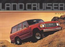 Print.  Red 1985 TOYOTA Land Cruiser Auto Ad
