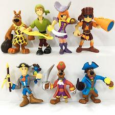 Promotion 7pcs Scooby Doo Crew Pirates Mates Shaggy Fred Velma Daphne Figure Toy