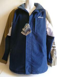 NEW Men's BILLABONG Jacket NAVY BLUE Water Resistant Tan White