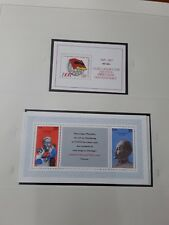 DDR 1977, 2 mini sheets, mint Soviet & E German flags & Dzerzhinsky