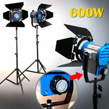 2 x 300W Fresnel Tungsten Light Spotlight Stand Kit for video studio photo light