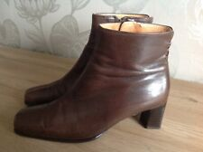 Gabor Ladies Brown/Tan Soft Leather Zipped Ankle Boots UK Size 4