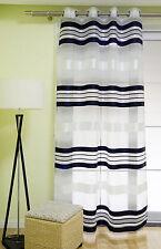 Ösenschal Vorhang mit Ösen Gardine Korsika schwarz mit Querstreifen 140x245cm