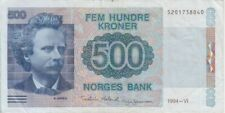 Norway banknote P44b-8040 500 Kroner 1994, VF We Combine