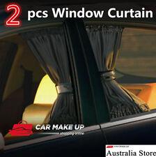 2xpcs Universal Black Removable Car Sun Shade car Curtain car Window Curtain
