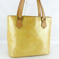 LOUIS VUITTON HOUSTON Shoulder Bag Purse Monogram Vernis M91004 Beige