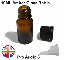 10x 10ml Amber Glass Dropper Bottles - Empty - Aromatherapy & Essential Oils UK
