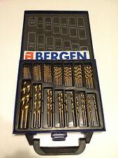Bergen Tools Rivestito in Titanio Hss Trapano Set 99Pc Custodia Plastica Legno Metallo Kit