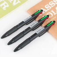 4Farben in 1 Kugelschreiber Schreiben Mark Stifte SchreibwarenBüro-Schulbed Q8K2