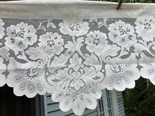Cream Lace Swag JCPenney Window Valance Scalloped Edges Shari Rod-Pocket 51x14