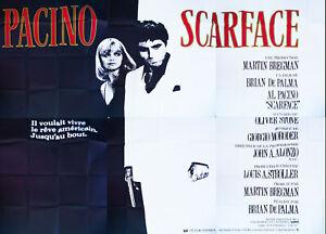 SCARFACE RARE 10x13 ft Giant Billboard Original Vintage Movie Poster 1984