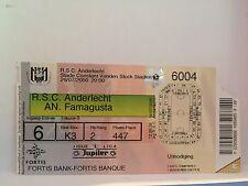 Football Ticket - RSCA Anderlecht - AN Famagusta - 2000 - UEFA