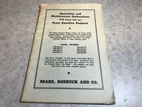 Operating and Maintenance Instructions and Parts List for many Sears Gas Engines