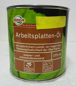 0,375 L Genius Arbeitspaltten Öl Leinöl Holzöl