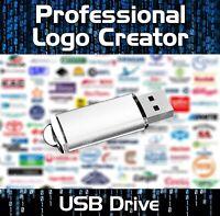 PRO LOGO MAKER CREATOR DESIGN SOFTWARE USB - WINDOWS VISTA ,7,8,10
