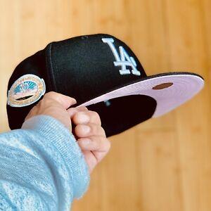 🔥 NEW ERA PINK UV BLACK HAT 59FIFTY CLUB STRAWBERRY COOKIES CREAM LIKE COLORS