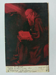 The Monk, Rembrandesque 1904 Vintage colour Postcard
