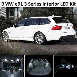 DELUXE BMW e91 3 Series Estate 04-12 FULL LED Light UPGRADE WHITE Interior KIT