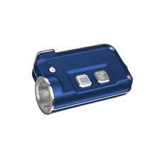 NITECORE TINI USB Rechargeable Keychain Light -380Lm (Blue) w/ Free USB Cable