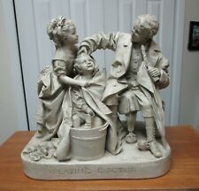 """John Rogers Group Statue Statuary """"Playing Doctor"""""""