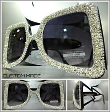 Oversize Exaggerated Retro Style SUNGLASSES Bling Butterfly Shape Handmade Frame