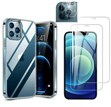 iPhone 12 / 12 PRO / MAX Mini Hülle Panzerfolie Schutzglas 9H Kamera transparent