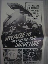 original PRESSBOOK..'' Voyage to The End Of The Universe   ! ''