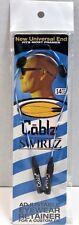 "CABLZ 14"" Blue Swirlz Sunglasses Glasses Holder Adjustable Eyewear Retainer"