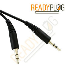 2ft Retractable 3.5mm Audio Cable for Lenovo A859 Line In AUX Travel (Black)