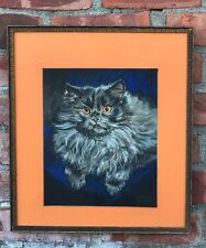 Lovely Pastel Portrait Of A Persian Cat By Gladys Emerson Cook. Signed