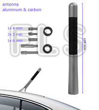 UNIVERSAL SILVER CARBON BEE STING SHORT STUBBY CAR AERIAL ANTENNA  JEP