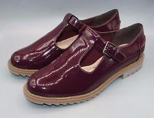 """""""Griffin Monty"""" Clark's Mujeres/Damas Borgoña patente zapatos talla 4 D."""