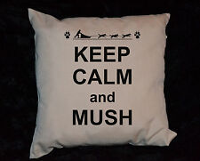 1x 50CM KEEP CALM CUSHION COVER SIBERIAN HUSKY MALAMUTE GIFT MUSH MUSHER DOGS