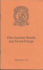 CHRISTIE'S Japanese Swords Fittings Tsuba Kozuka Fuchi-Kashira Catalog 1978