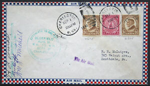 1931 Charleston to Scottdale Pocahontas Air Transport Air Mail Flight Cover