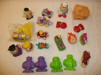 Large Lot of 20 Flintstones Toys / Figures - From the 1990's Hanna Barbera Fred