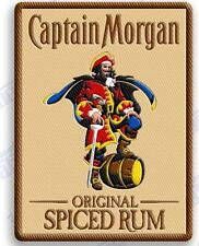 """CAPTAIN MORGAN SPICED RUM   iron on embroidery patch 3.4"""" X 2.6"""" Pirates liquor"""