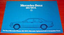 Prospekt Mercedes Benz 190 E W201, Stand 1983