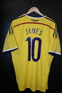 COLOMBIA JAMES RODRIGUEZ 2014 WORLD CUP ORIGINAL JERSEY Size L (VERY GOOD)