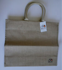 BIKEZAC CLIP-ON SHOPPING PANNIER SINGLE SIDED BICYCLE BAG JUTE *NEW*