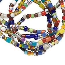 1 Strand Multicolored Glass Beads Mix / Approx. 2x1mm-4x3mm Mixed Shapes