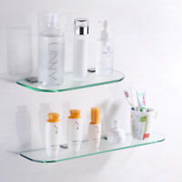 Home Bathroom Shower Shelves Glass Cosmetics Storage Rack Wall mount New Fashion