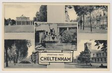 Gloucestershire postcard - Greetings from Cheltenham Multiview showing 5 scenes