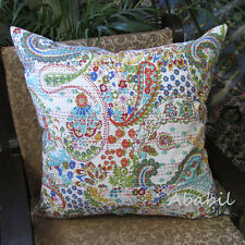 24X24 Large Indian Pillow Cushion Cover Decorative Floral Kantha Cushion Covers