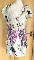 Pomodoro Blouse Top Tunic 18 Silk Long Floral Smart Casual Unusual Occasion