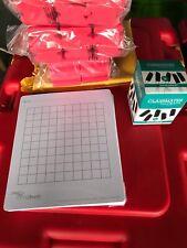 Drywipe Graph Flexi Boards 35 + 36 Drywipe Marks & 36 Foam Erasers