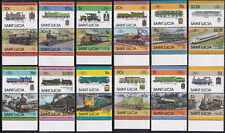 BRITISH COLONIES - ST. LUCIA - LOCOMOTIVES COLLECTION 674-679 711-718 etc -LOOK!