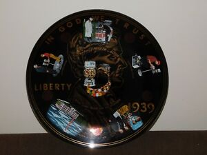 "VINTAGE 10"" 1939 FORD GUM BALL PLANT FORDWAY PROGRAM IN ACTION PENNY PLATE"